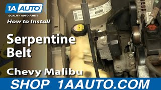 How To Install Replace Serpentine Belt 97-03 Chevy Malibu - YouTube | 1998 Chevy Malibu 3 1 Engine Diagram Tensioner |  | YouTube