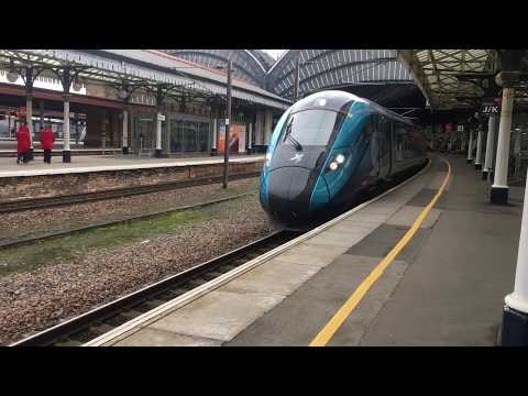 Transpennine Express 802 217 Departs York With A Newcastle To Manchester Airport