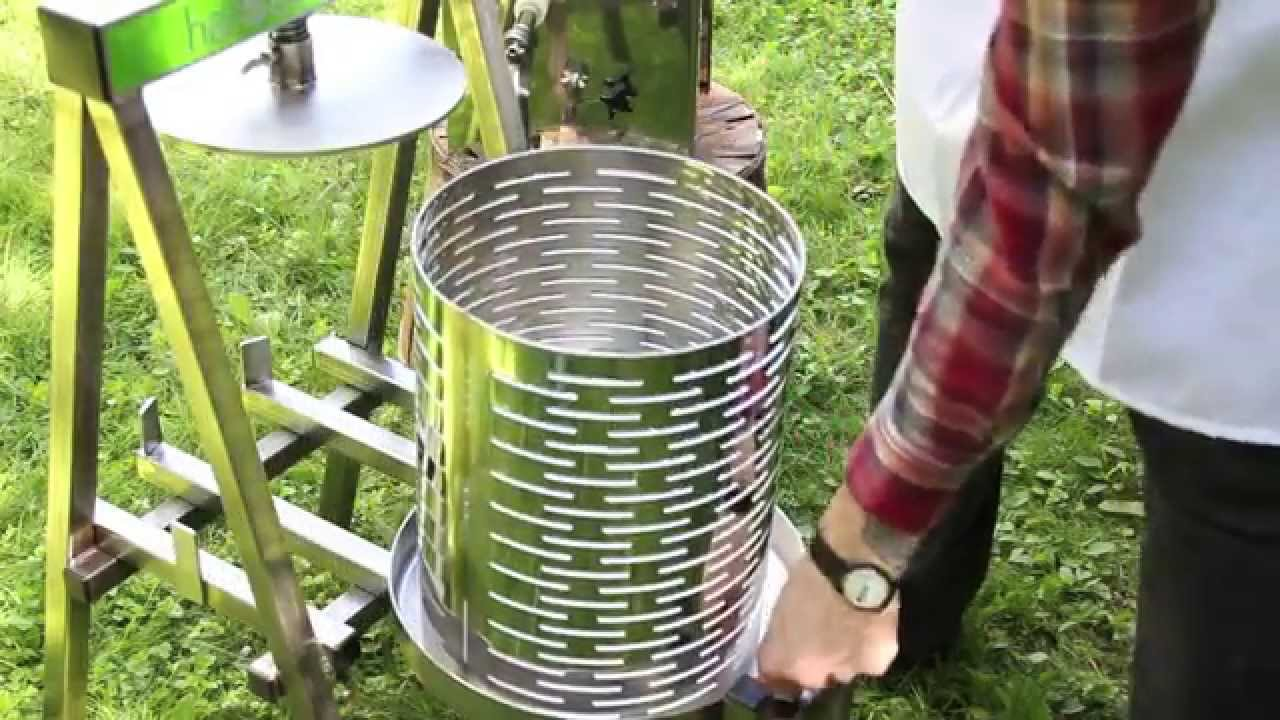 Fruit crusher grape apple crusher grinder for grape apple fruit - Harvest Fiesta Fruit Press Crusher Introduction Demonstration Youtube