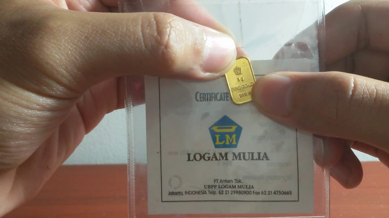 Review Emas ANTAM 3 gram - YouTube