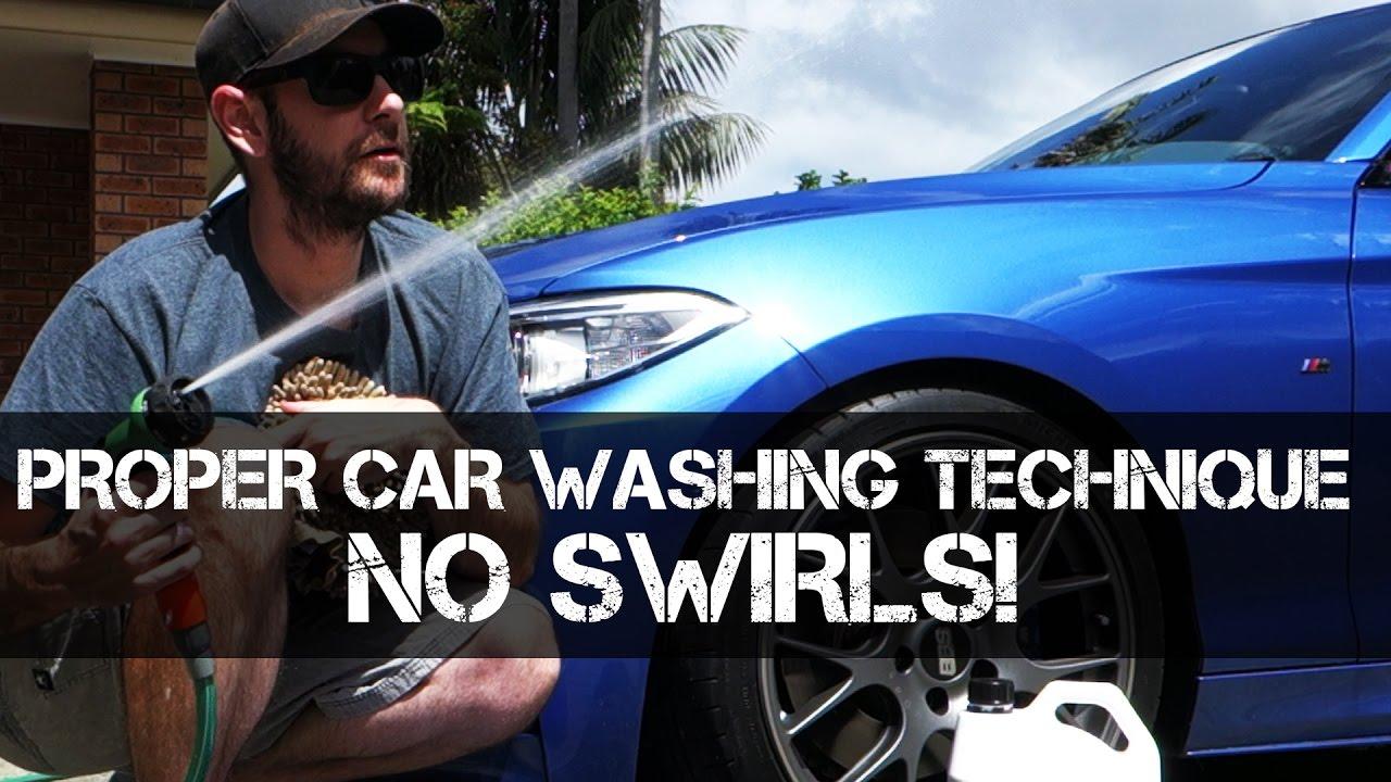 Washing Car No Swirls