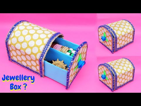 How to make Jewellery Box at home with waste cardboard   Best out of waste   DIY Bangle Box