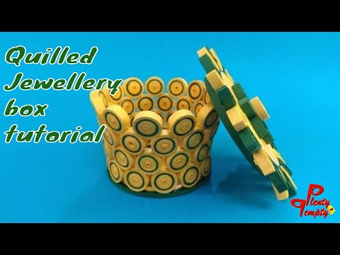 Quilled jewelry box| handmade jewel box tutorial|Paper quilling|quilling art| Plenty Tempty