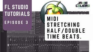 MIDI تمتد نصف/ضعف الوقت يدق | فلوريدا الاستوديو التعليمي | [لا سلسلة BS #3]