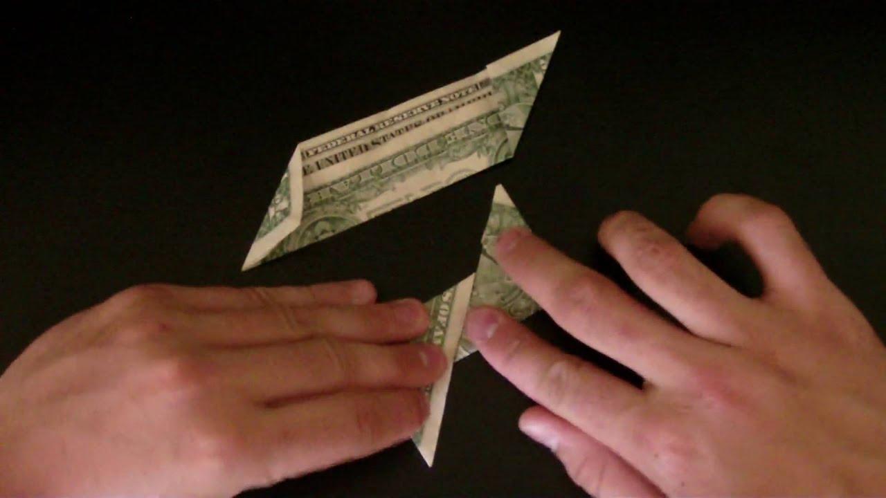 Money Origami 4 poin Star - YouTube - photo#32
