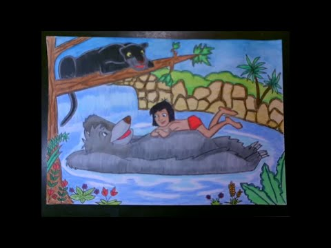 Draw the jungle book characters speed drawing