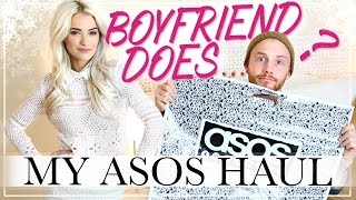 BOYFRIEND DOES MY ASOS HAUL
