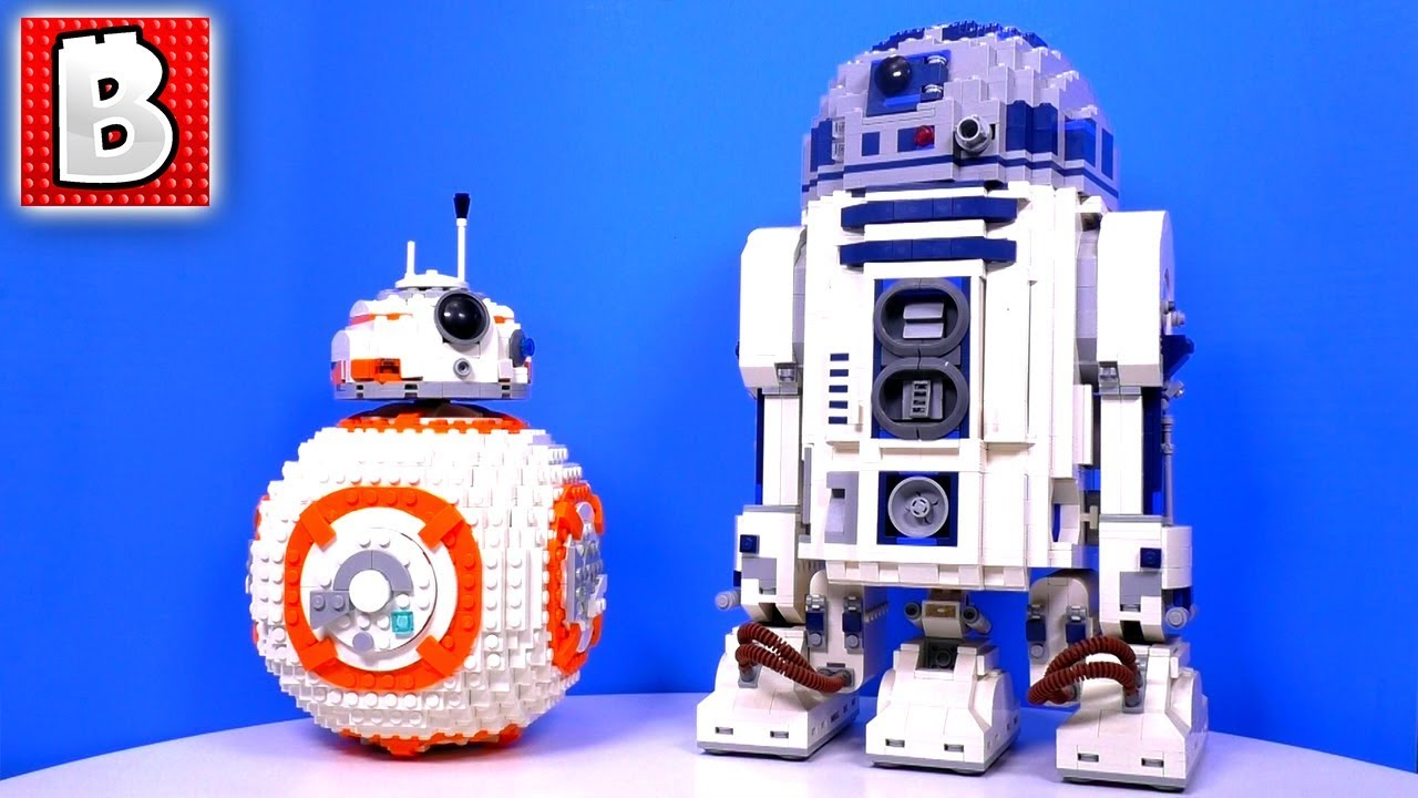 Lego star wars bb 8 75187 ucs r2 d2 10225 unbox build time lapse review youtube - Lego starwars r2d2 ...
