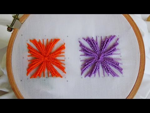 Hand Embroidery: Kadai Kamal Stitch