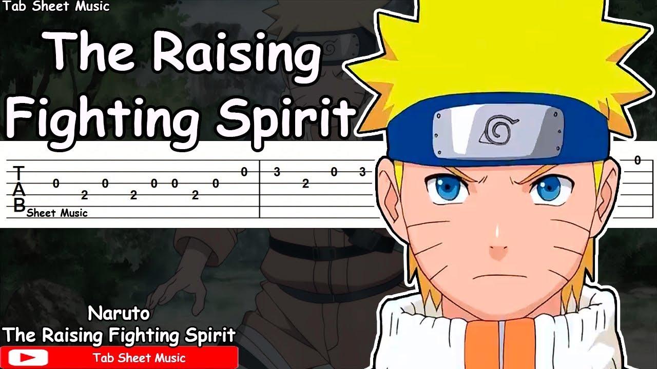 Naruto OST - The Raising Fighting Spirit Guitar Tutorial