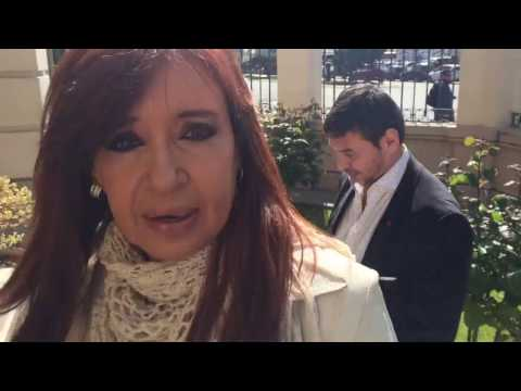 Cristina grabó un video de su presentación ante la justicia de Río Gallegos y lo subió a YouTube