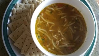 Asmr: Campbell's Chicken Noodle Soup & Crackers
