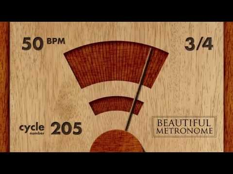 50 BPM 3/4 Wood Metronome HD