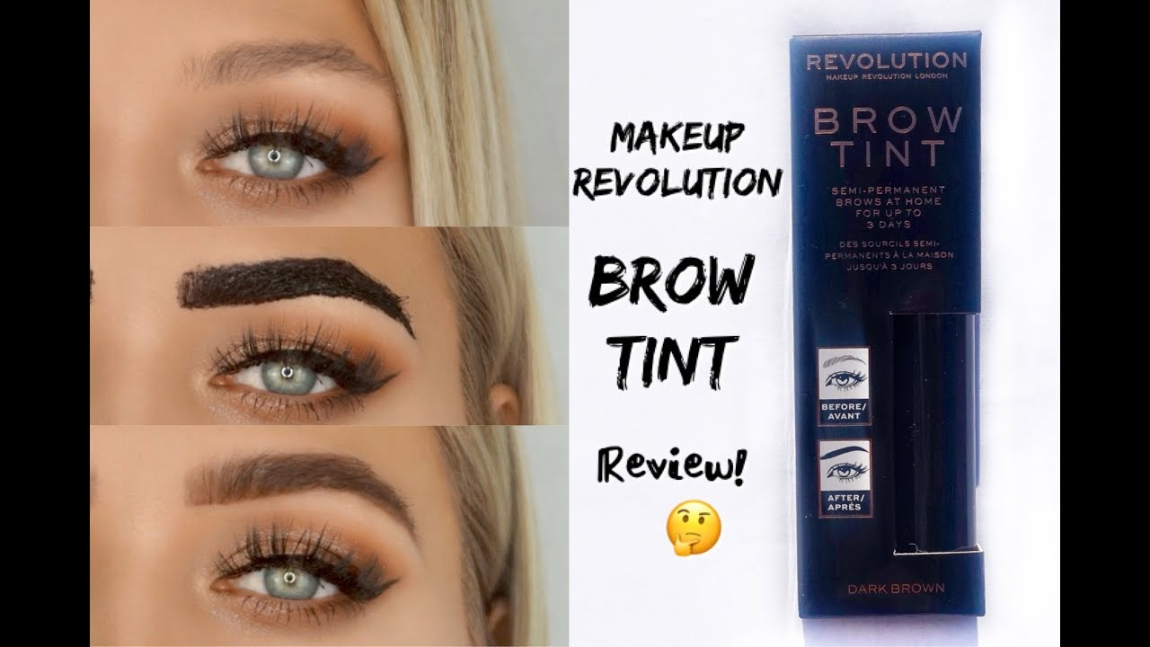 Brow Tint Tattoo Makeup Revolution Review Youtube