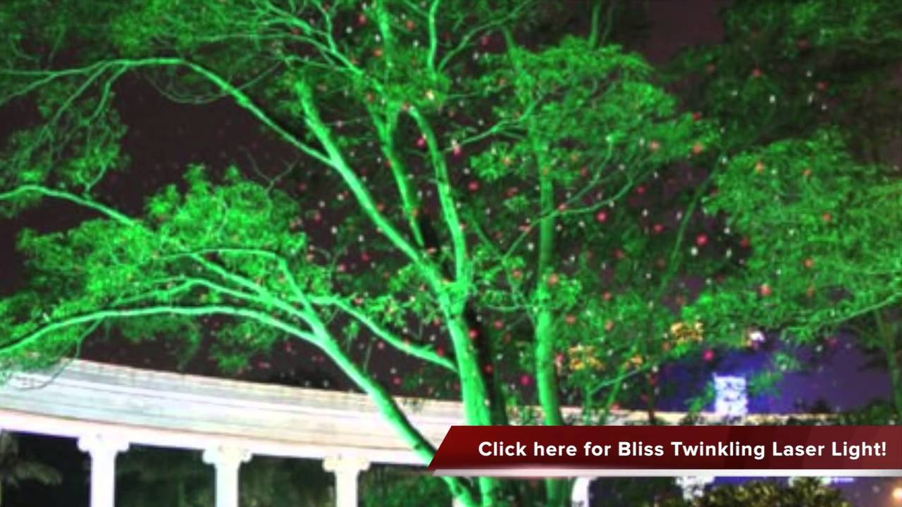 Bliss twinkling Firefly Fairy Outdoor Laser Light Show Duel Colors Review  YouTube