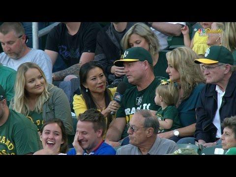 NYY@OAK: Chapman's parents discuss Matt's MLB debut