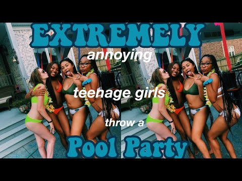 teenage girls throw a pool party *summer day in my life*