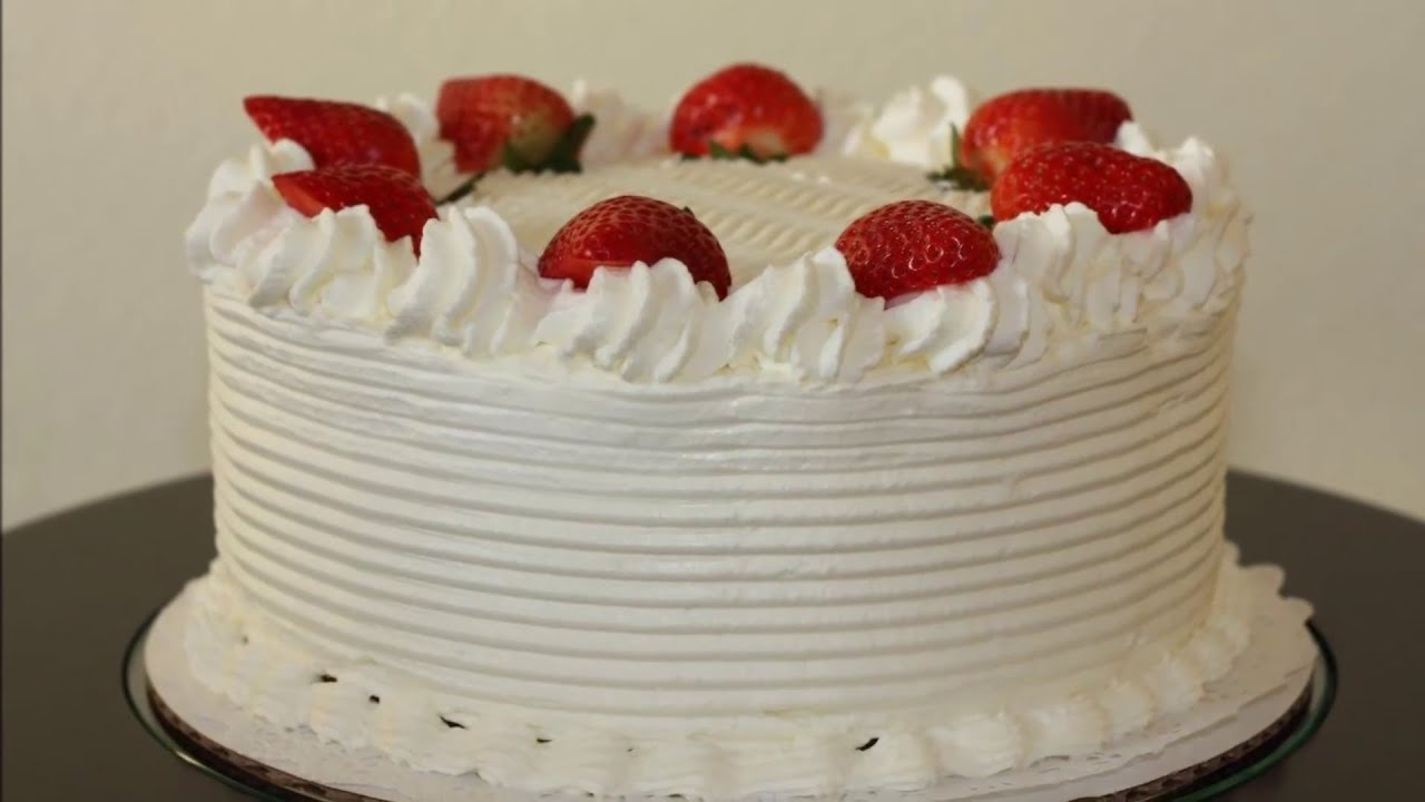 White Cake With Strawberries Recipe And Decoration Make White Cake Step By Step