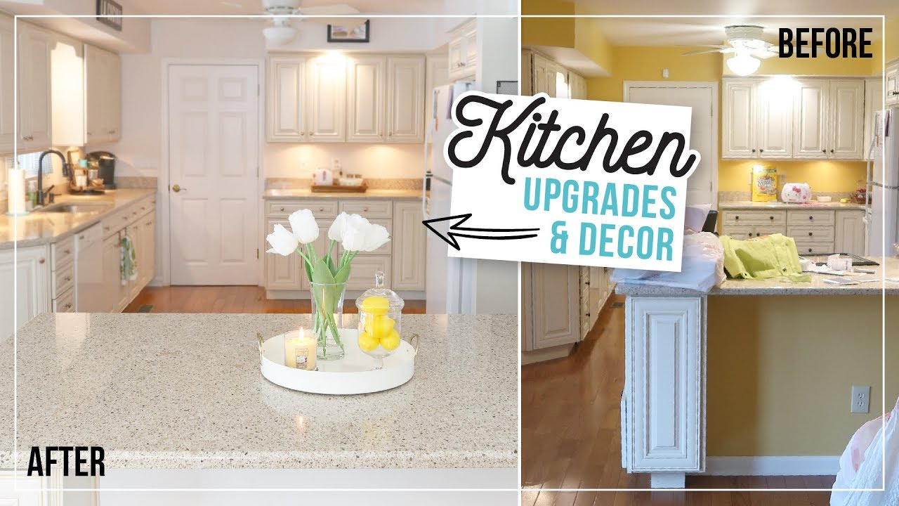 Kitchen Decorate With Me | Easy & Cheap DIY Kitchen Upgrades | Farmhouse  Kitchen Decor Ideas
