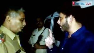 Waris Pathan abuses police   Mumbai Live