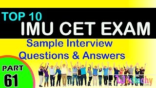 imu cet exam top most interview questions and answers for freshers experienced tips online videos