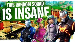 This Random Squad is INSANE! - Fortnite Squads Gameplay