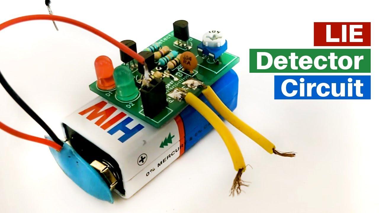 Lie Detector Circuit Diagram