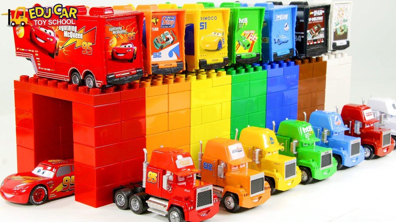 Learning Color Disney Cars Lightning McQueen mack truck