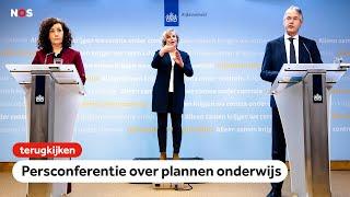TERUGKIJKEN: Persconferentie demissionair-minister Slob over plannen onderwijs