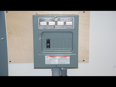 how to install a 100a sub panel 15 35