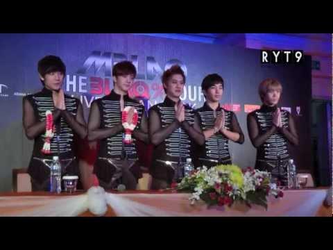 เก็บตกภาพน่ารักๆ MBLAQ สัมภาษณ์สื่อไทย