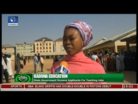 Kaduna Govt Screens Applicants For Teaching Jobs | News Across Nigeria |