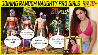 Joining Random Squad Of Naughty Pro Girls 👯 Like A Bot 18 PLUS DW Hamza Gaming
