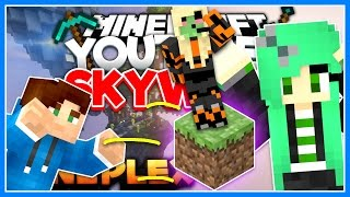 THROWING DIRT AT SALLY GREEN! | YouTuber Skywars Special (Mineplex) | w/ Dirt Sheep