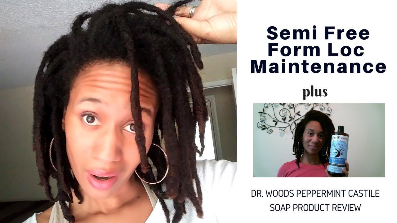 Semi Free Form Loc Maintenance | Dr  Woods Peppermint Castile Soap Product  Review