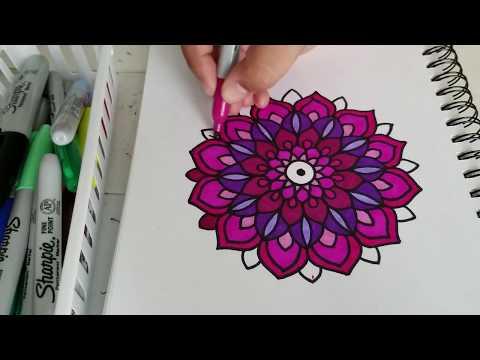 Como hacer Mandalas a color! Paso a Paso  | how to draw Color Mandala Step by Step | Shantal art