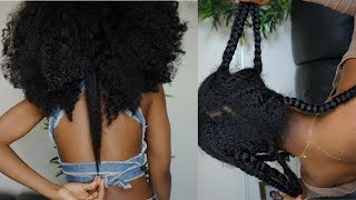 NATURAL HAIR | HOW TO: GROW LONGER HAIR UNDER YOUR WIGS/WEAVES ft. Nadula hair