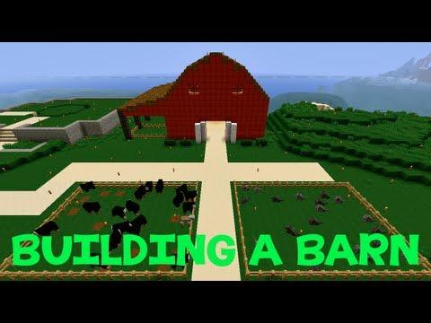 Minecraft Building A Barn Youtube