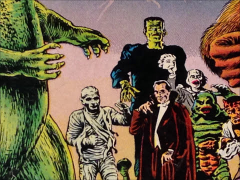 COMIC MAN PRODUCTIONS: AURORA UNIVERSAL MONSTERS MODEL KITS COMIC BOOK AD 1964