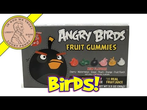 Angry Birds Fruit Gummies 2nd Edition Black Bird Box - Unique & Oddball Candy