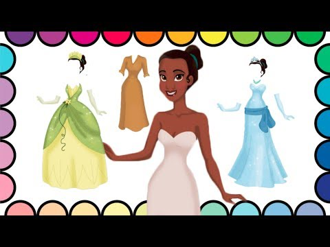Disney Princess Tiana Coloring Page Learn Names Of