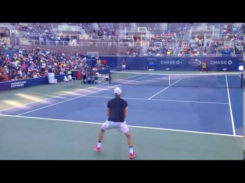 Monfils Dazzles The Crowd With The Sort Of Juke That Tends To Be Reserved For Practice Sessions