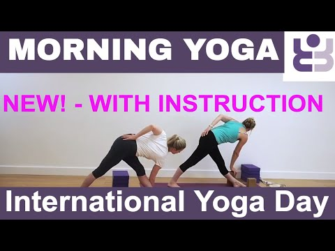 NEW! - WITH INSTRUCTION Morning Yoga Practice for International Yoga Day - Iyengar Yoga Sequence