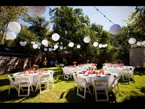 Backyard Wedding Receptions backyard wedding - youtube