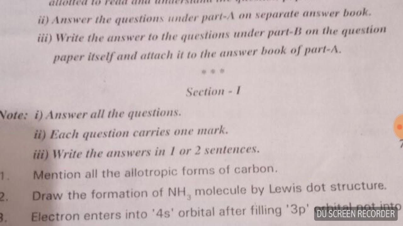 Std 1 Pragna Test Paper