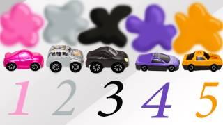 Веселые МАШИНКИ (CARs) 3 Учим цвет и цифры. Развивающие мультики