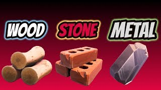 "FORTNITE:""THE BEST MATERIAL TO HIT WITH YOUR AXE TO GET""WOOD""STONE""METAL"""