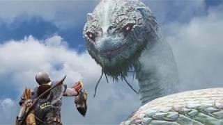 God of War 4.  Часть 13 Прохождение. Общение Мимира и Змейки