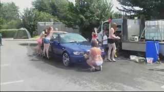 Bikini car contest dance new wash