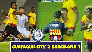 ... guayaquil city el dia de hoy logro derrotar por 2 a 1 barcelona y sube e...